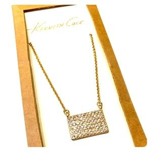 ✨NWT Kenneth Cole Gold Pave Necklace